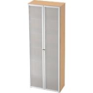 Kast met glazen deuren TOPAS LINE, 6 ordnerhoogten, B 800 mm, esdoornpatroon