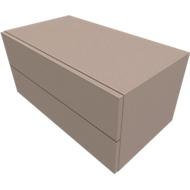 Kast SOLUS PLAY, 2 schuifladen, B 800 x D 440 x D 374 mm, stone grey