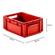 Kasten im EURO-Maß EF 4170, ohne Deckel, 15,7 l, rot