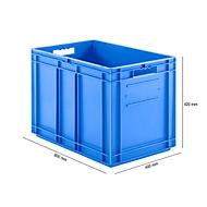Kasten im EURO-Maß EF 6420, 83,8 l, blau