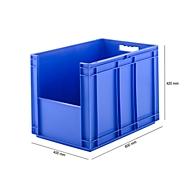 Kasten im EURO-Maß EF 6420, ohne Deckel, ohne Staubklappe, 83,8 l, blau