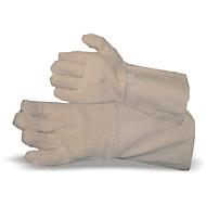 Katoenen handschoen met lussenweefsel en omslag
