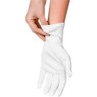 Katoenen handschoenen, wit, 12 stuks, m. XL