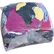 Katoenen poetsdoeken, diverse kleuren, 10 kg