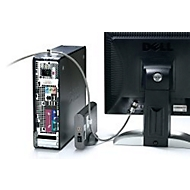 Kensington Peripheral Lock K64615EU, f. Desktop PC en randapparatuur, kabel 2,4 m.
