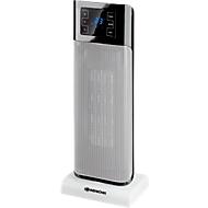 Keramiek warmteblazer BEIRUT, 1000/2000 W, 75° oscillatie, touchpad + afstandsbediening, zwart-zilver