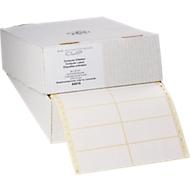 Ketting-etiketten, 1 rij, 88,9 x 35,7 mm, 4000 stuks