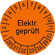 Keuringsvignet, elektr. gekeurd (2020-2025), Ø 30 mm, 100 stuks