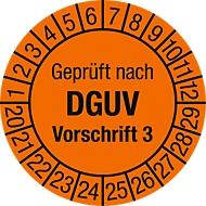Keuringsvignet, Gekeurd volgens DGUV voorschrift 3 (2020-2029), 100 stuks