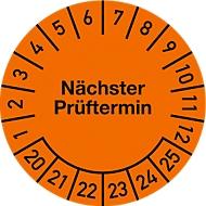Keuringsvignet, volgende keuringsdatum (2020-2025), Ø 20 mm, 100 stuks