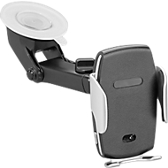 KFZ-Smartphonehalter mit Qi-Charger, 10 Watt, WAB auf Wange 30 x 10 mm o. Frontseite 40 x 25 mm