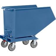 Kiepbak 4704, 800 l, blauw RAL 5007, zonder aftapkraan en zeef