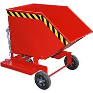 Kiepbak met wielen type KW-ET 250, rood