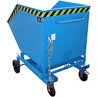 Kiepbak met wielen type KW-ET 600, blauw