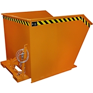 Kiepbak type GU, 1500 liter, oranje