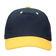 Kinder-Cap, Blau/Gelb, Standard, Auswahl Werbeanbringung optional