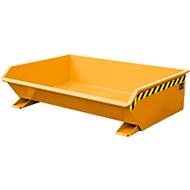 Kipp-Behälter Bauer Mini Typ MGU 610, besonders niedrige Bauhöhe, orange