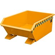 Kippbehälter Bauer Mini Typ MGU 270, 350 mm Schüttkantenhöhe, 270l Inhalt, orange