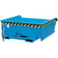 Kippbehälter Bauer Mini Typ MGU 460, niedrige Bauhöhe, 460 l Inhalt, blau