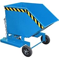 Kippbehälter mit Rollen Typ KW 250, blau