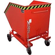 Kippbehälter mit Rollen Typ KW-ET 600, rot