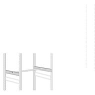 Kit de tringles à habits, 994 x 800 mm