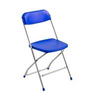 Klappstuhl Polyfold, blau/weißalu, 2 Stück