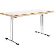 Klapptisch 734-14, Tischplatte weiß
