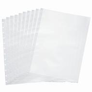 Klarsichthülle FolderSys, DIN A4, oben offen, T-Stanzung für 12 Ringe, transparent, 10 Stück