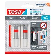 Klebeschraube tesa®, für Tapete & Putz, Haftkraft bis 1 kg, höhenverstellbar, ablösbar, 2 Stück