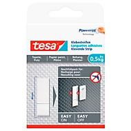 Klebestreifen tesa®, für Wiederverwendung des Klebenagels für Tapete & Putz mit Haftkraft bis 0,5 kg, 2-seitig, ablösbar, 9 St.