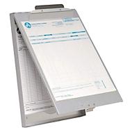 Klembord A4, aluminium, met  formulierhouderdoos