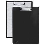 Klembord A4, klem met beschermende plastic hoeken, PP, zwart
