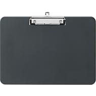 klembordbekken, A4, klembreedte 8 mm, klem aan lange zijde, op te hangen, gerecycled kunststof, zwart