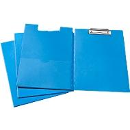 Klemmap, A4, kunststof, met klembeugel, blauw