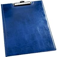 Klemmap A4, leer-look, blauw