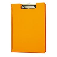 Klemmap A4 met omslag, met ophangoog oranje