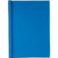 Klemmbinder, DIN A4, Leinen, mit Einband, blau