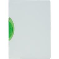 Klemmhefter Kolma Easy Plus, A4, für bis zu 30 Blatt, transparenter KolmaFlex-Kunststoff, mit grüner Klemme
