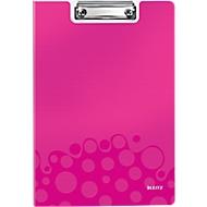 Klemplaat met omslag WOW - A4 - Roze