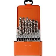 Koffer met spiraalboren Projahn Basic, 25 korte spiraalboren, in metalen koffer
