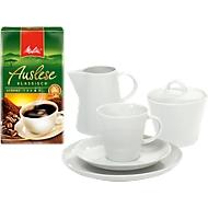 Koffieserveerset met servies Solea, 20-tlg. en 500 g Melitta klassieke melange gratis