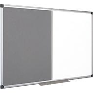 Kombitafel MAYA Filzgrau/Whiteboard, magnetisch, 600 x 450 mm