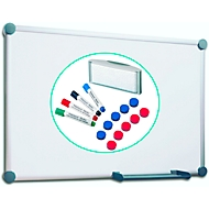 Komplett-Set Whiteboard 2000, platingrau