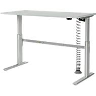 Komplettangebot Schreibtisch elektrisch höhenverstellb., Rechteck, C-Fuß, B 1600 x H 725-1185 mm + Kabelspirale