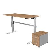 Komplettangebot Steh-/Sitztisch Standard + Rolly 1233, Kirsche Romana-Dekor