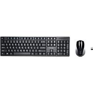 Komplettset Funktastatur & Funkmaus Kensington K75230DE, bis 10 m, AES 128 Bit Verschlüsselung, USB-Receiver, schwarz