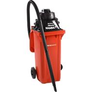 Komplettset Nass-Trockensauger, ohne Werkzeugsteckdose, inkl. Großmülltonne für 120 l, rot