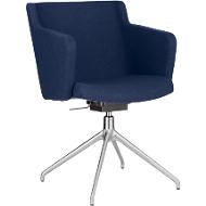 Konferenzstuhl Sitness 1.0, dreidimensionale Sitzfläche, höhenverstellbar, drehbar, blau