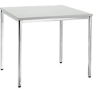 Konferenztisch, 800 x 800 mm, lichtgrau